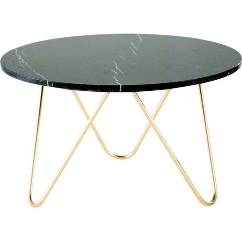 Gold Metal And Black Marble Coffee Table Eagle