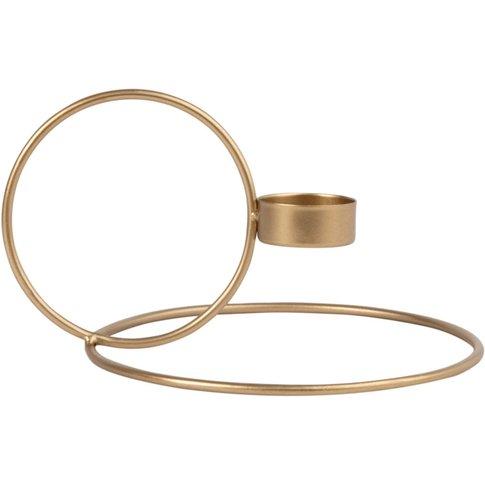 Gold Metal Circle Candle Holder