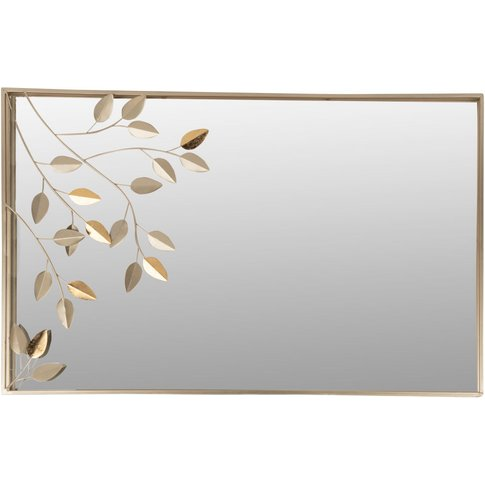 Gold Metal Leaf Mirror 49x76