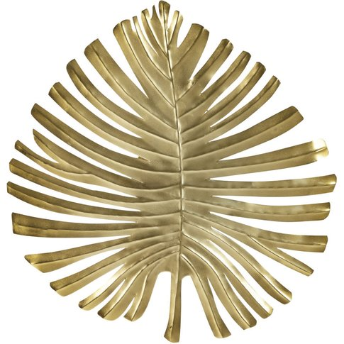 Gold Metal Leaf Wall Lamp
