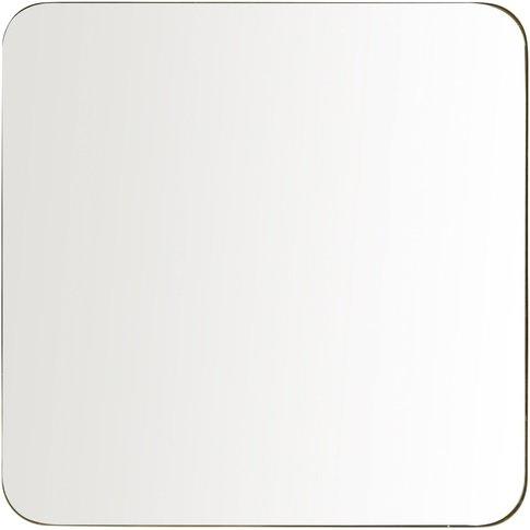Gold Metal Mirror 110 X 110 Cm
