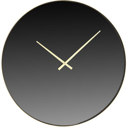 Gold Metal Smoked Mirror Clock D71