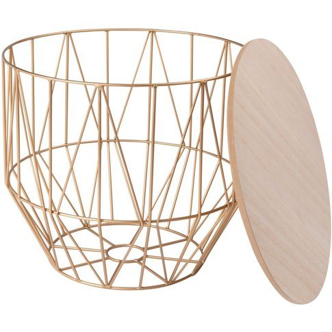 Gold Metal Wire Side Table