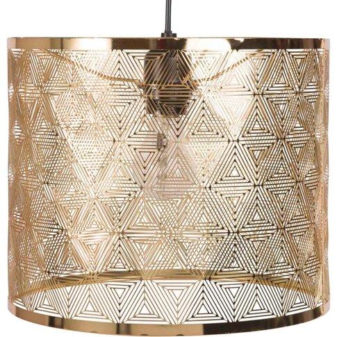 Gold Openwork Metal Pendant Light