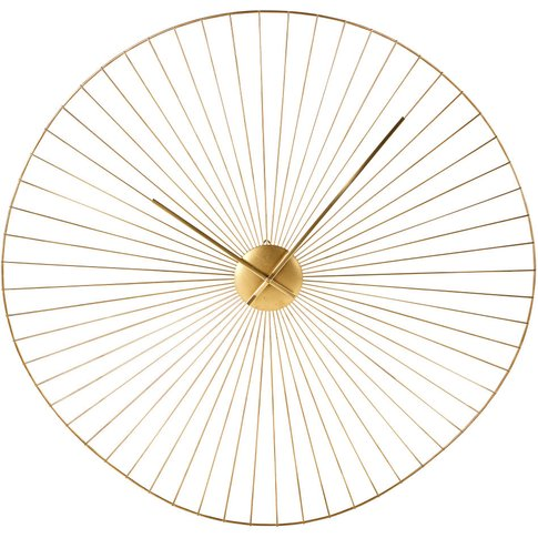 Gold Wire Clock D80