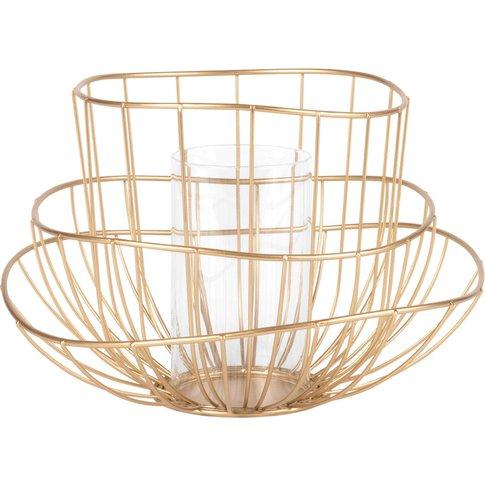 Gold Wire Tealight Holder
