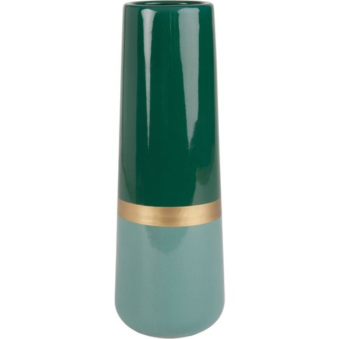Green And Gold Ceramic Vase H30