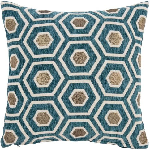 Green Cushion Cover With Graphic Print 40x40