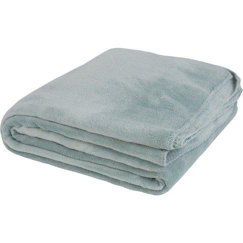 Green Faux Fur Blanket 150x230