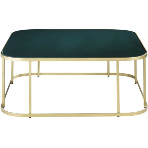 Green Tempered Glass Coffee Table Manaos