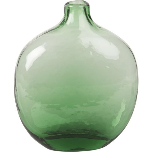 Green Tinted Flat Glass Vase H24