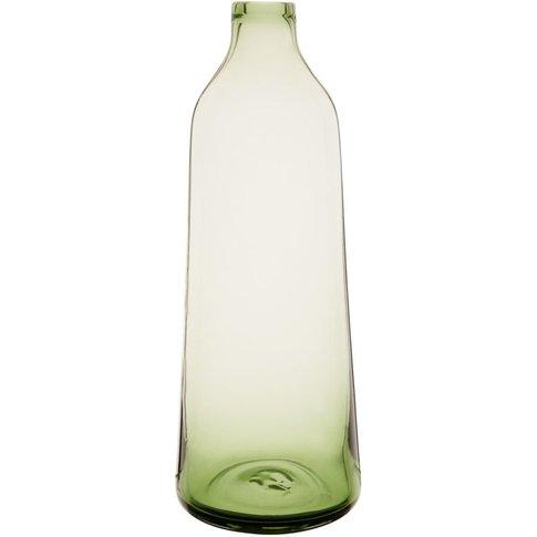 Green Tinted Glass Bottle Vase H35