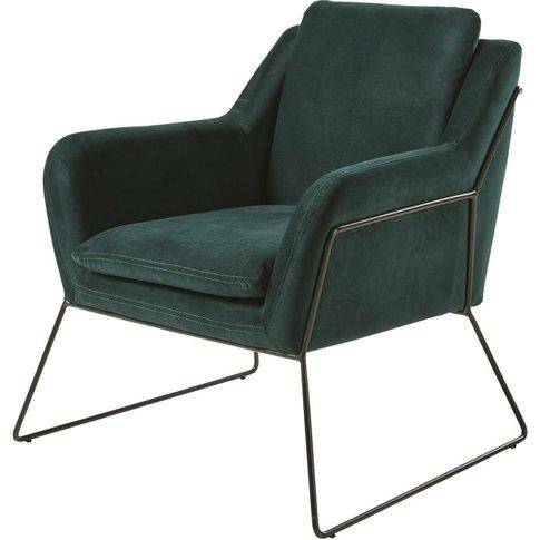 Green Velvet Armchair Jasper