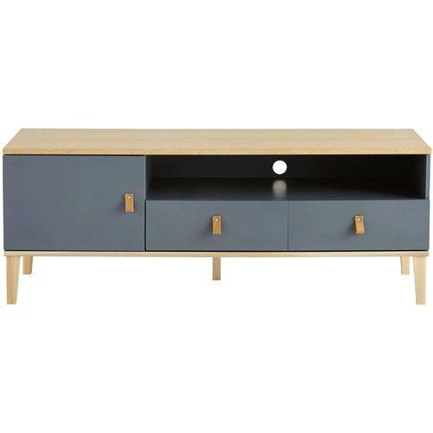 Grey 1-Door 2-Drawer TV Cabinet Cléo