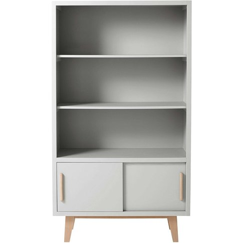 Grey 2 Sliding Door Bookcase Sweet