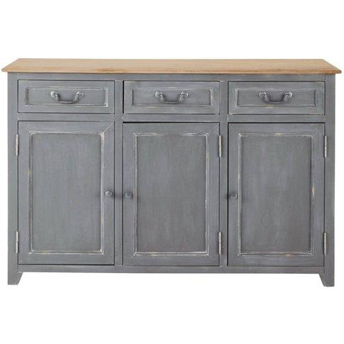 Grey 3-Door 3-Drawer Sideboard Honorine