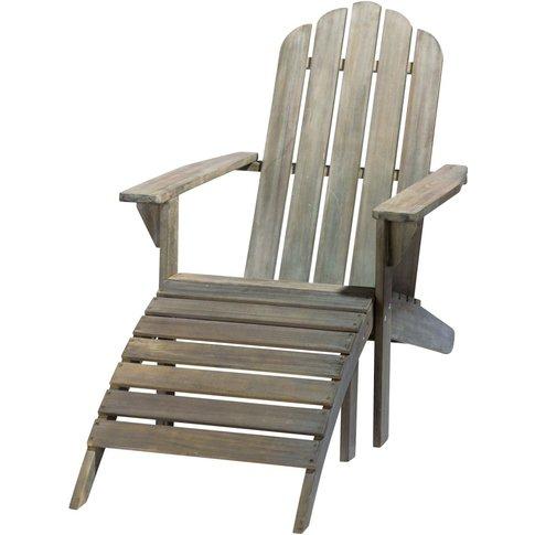 Grey Acacia Wood Sun Lounger Ontario