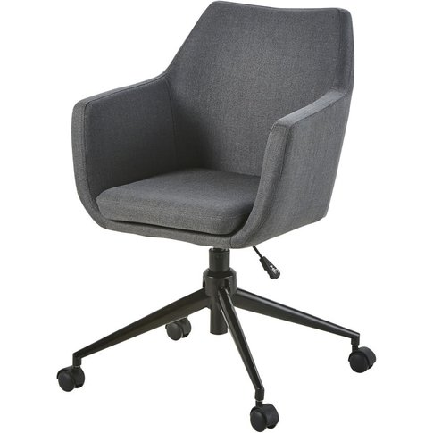 Grey and Black Metal Office Chair Davis