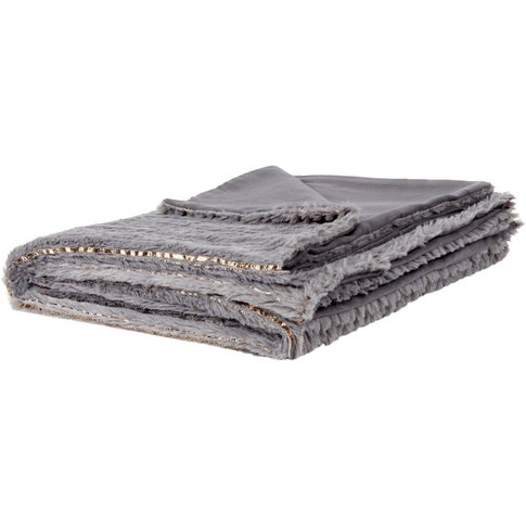 Grey And Gold Blanket 140x180