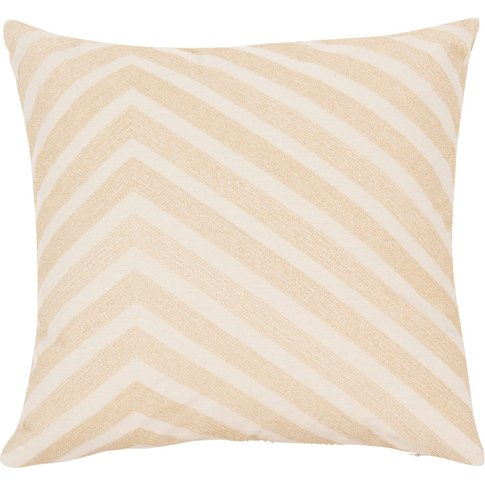 Grey And Gold Cotton Cushion Cover 40x40