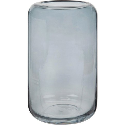 Grey-Blue Tinted Glass Vase H20