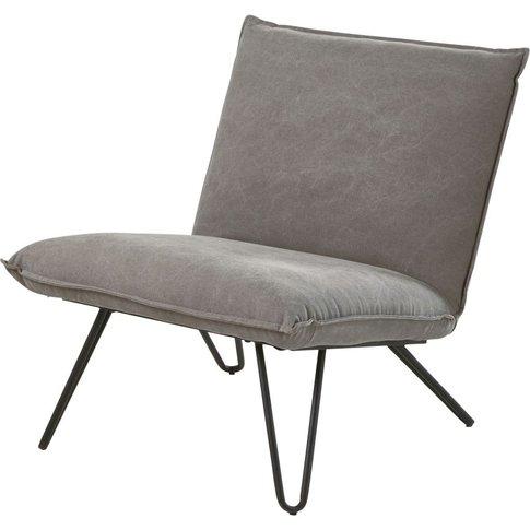 Grey Cotton Armchair Lucas