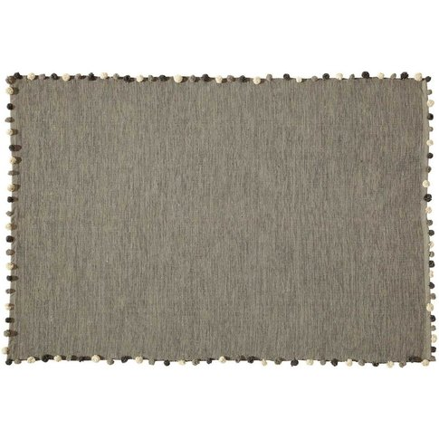Grey Cotton Rug 120x180