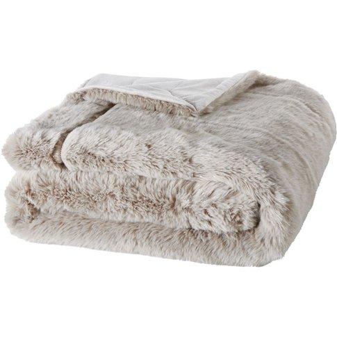 Grey Faux Fur Blanket 150x180