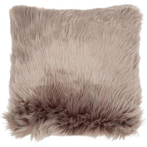 Grey Faux Fur Cushion Cover 40x40