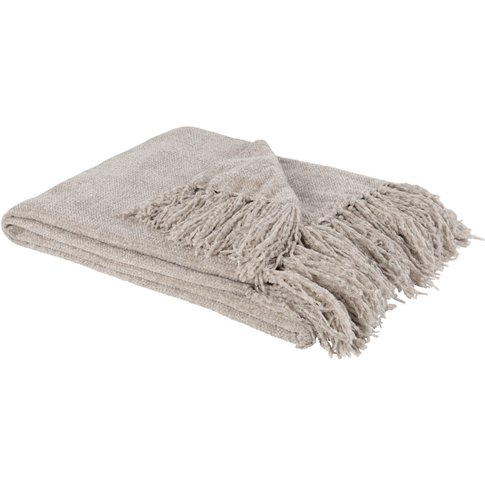 Grey Fringed Blanket 125x150
