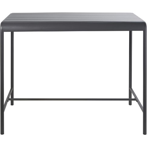 Grey Metal 4-Seater Counter-Height Garden Table L130...