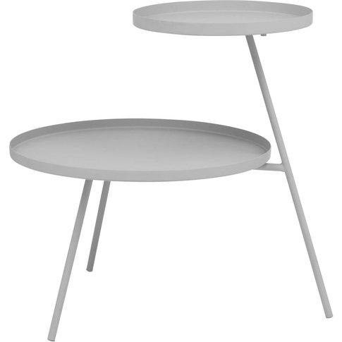 Grey Metal Side Table