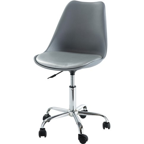 Grey Office Chair with Casters Bristol