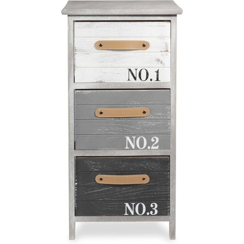 Grey Printed Paulownia Small Storage Unit