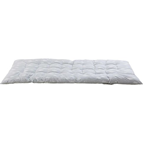 Grey Recycled Cotton Futon With Cloud Print 90x190