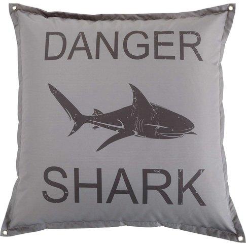 Grey Shark Print Pouffe
