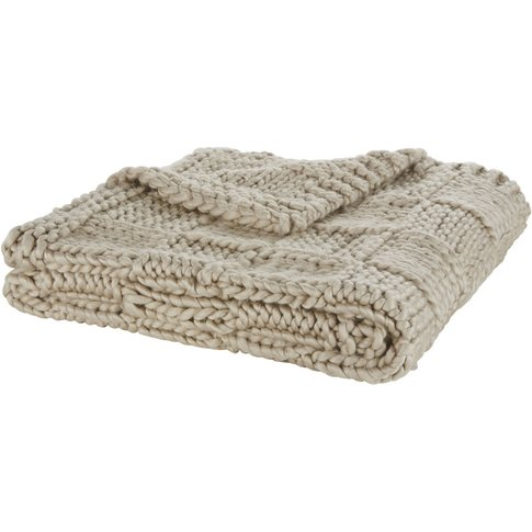 Grey Taupe Knitted Throw 130x170