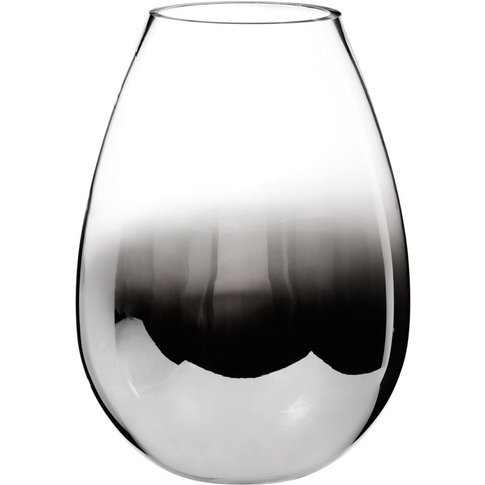 Gun Grey Glass Vase H 25cm