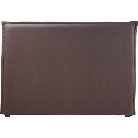 Headboard Cover 160 In Anthracite Grey Cotton