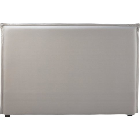 Headboard Cover 180 in Grey Cotton