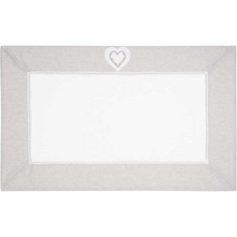 Heart Cotton Bath Mat In White 50 X 80cm