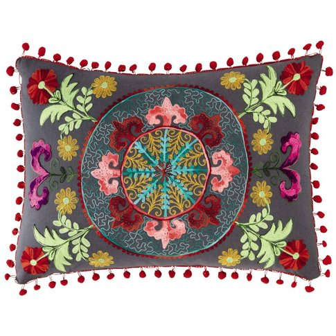 HIASCIO cotton cushion, multicoloured 30 x 50cm