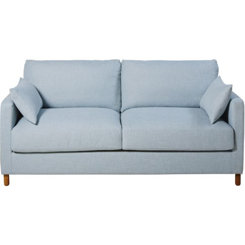Ice Blue 3-Seater Sofa Bed, Mattress 14 Cm  Julian