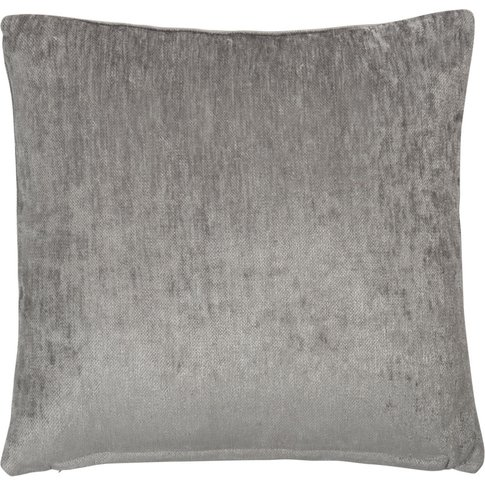 Iceberg Grey Velvet Cushion 60x60