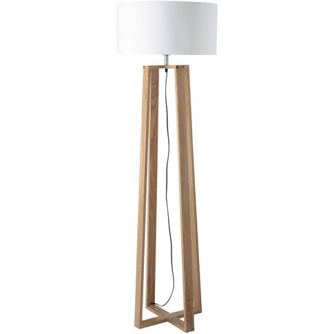 ICEBERG wood and cotton floor lamp H 160cm