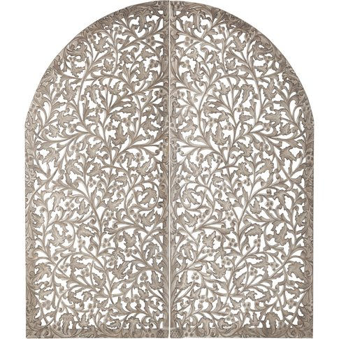 Indore Carved Wood 140cm Headboard