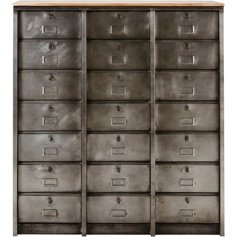 Industrial Metal 21-Drawer Cabinet Mabillon