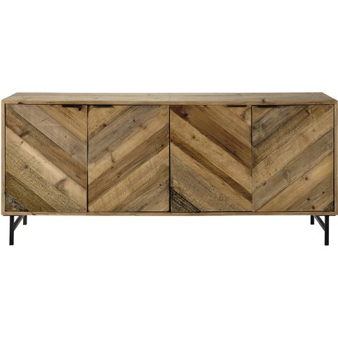 Industrial Recycled Pine Sideboard Chevron