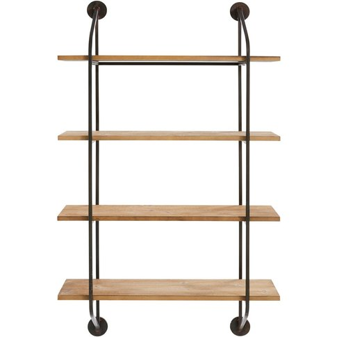 Industrial-Style Black Metal Shelving Unit