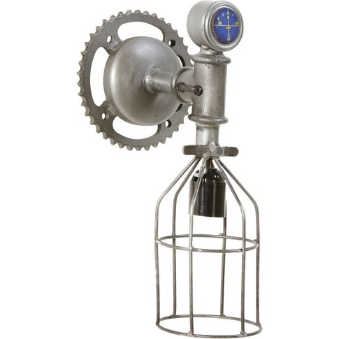 Industrial-Style Metal Cog Wall Lamp